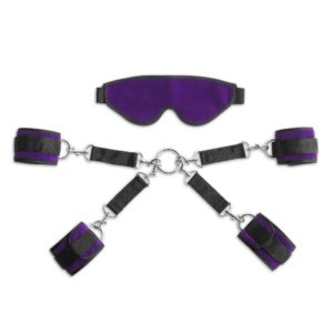 Liberator Bond Deluxe Cuff and Blindfold Kit, Purple